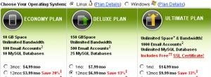 GoDaddy 4GH主机介绍以及与Shared虚拟主机的区别