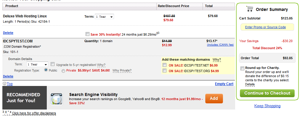 购买Godaddy产品 域名不再优惠2.17美元