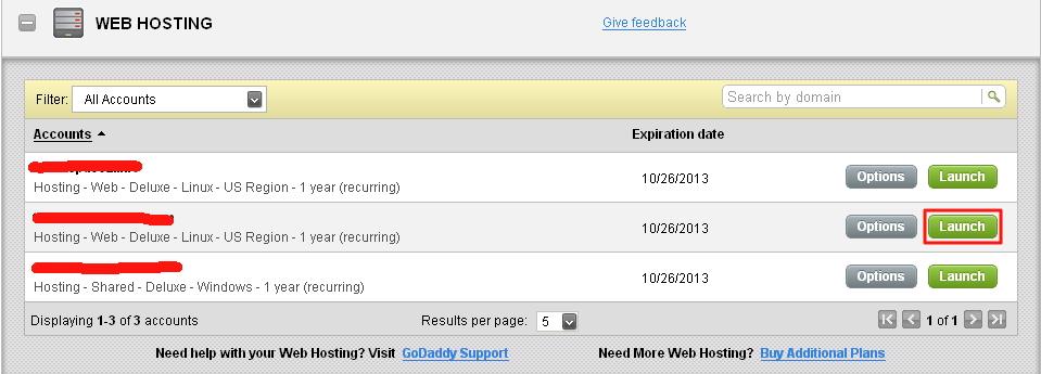美国虚拟主机Godaddy更改主域名图解
