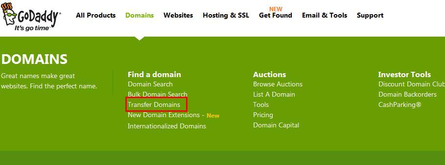 最新GoDaddy域名转入详细教程