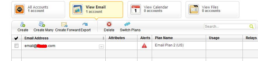 已创建邮箱账户