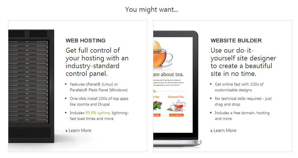 """虚拟主机和""""Website Builder""""你到底需要哪个?"""