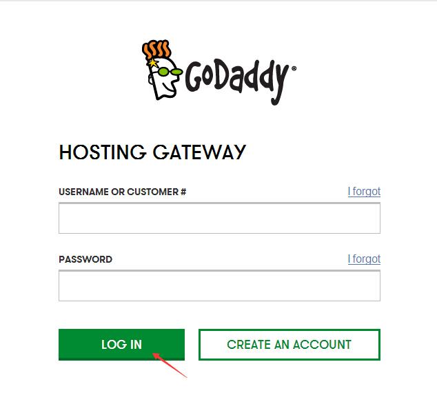 GoDaddy账户登录