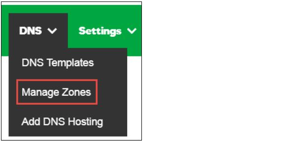 单击DNS选项卡