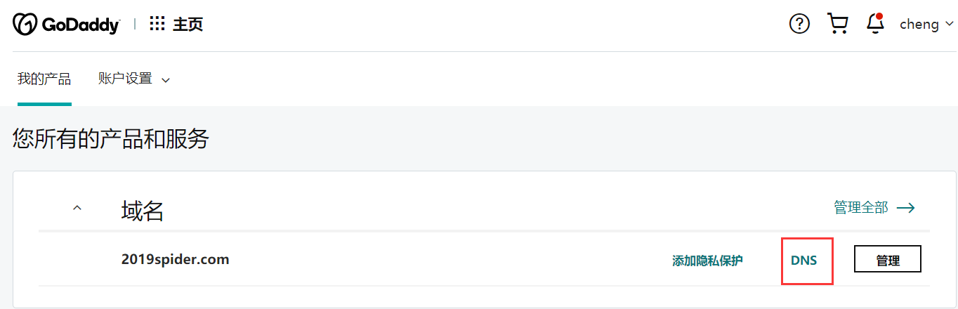 GoDaddy邮箱设置SPF的教程
