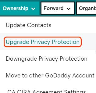 godaddy升级域名保护计划