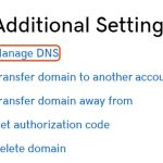 GoDaddy教程:如何编辑我的域名转址